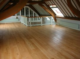 Solid oak pre-sanded and finished with hardwax oil